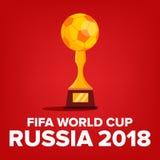 Vektor 2018 för FIFA världscupbakgrund Ryssland händelse Världscupbakgrund Matchkonkurrens Mästerskap Ryssland 2018 royaltyfri illustrationer