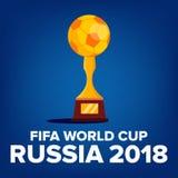 Vektor 2018 för FIFA världscupbakgrund Välkomnande till Ryssland Mästerskap Ryssland 2018 Turneringdesign illustration stock illustrationer