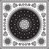 Vektor för filt för viktoriansk blom- paisley medaljong dekorativ ethnic royaltyfri illustrationer