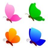 vektor för fjärilsfjärilslogo vektor illustrationer