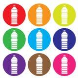 Vektor för flasksymbolsuppsättning Royaltyfri Fotografi
