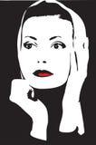 vektor för flicka för element för designteckning Royaltyfri Bild