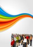 vektor för folk för affärsillustrationjpg Royaltyfri Fotografi