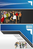 vektor för folk för affärsillustrationjpg Arkivbild
