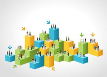 vektor för folk för affärsillustrationjpg Arkivbilder