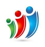 Vektor för folk för logoteamworkfamilj Arkivfoto
