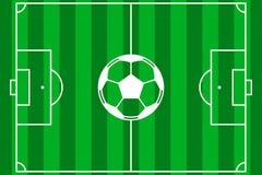 Vektor för fotbollfält Arkivfoto