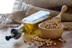 vektor för fröskida för droppillustrationolja stylized soybean Fotografering för Bildbyråer