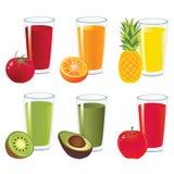 Vektor för fruktfruktsaft Fotografering för Bildbyråer