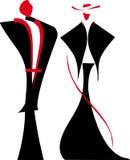 vektor för gentlemanillustrationlady royaltyfri illustrationer
