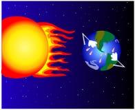 Vektor för global värme royaltyfri illustrationer