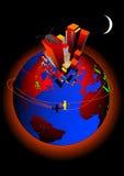 Vektor för global värme Arkivfoto