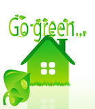 vektor för grönt hus för beautifullekologi Royaltyfria Foton