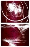 vektor för grunge för 2 bakgrunder set Fotografering för Bildbyråer