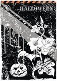 vektor för grungehalloween vykort Royaltyfria Bilder