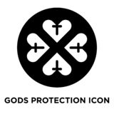 Vektor för gudskyddssymbol som isoleras på vit bakgrund, logo c royaltyfri illustrationer