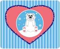 vektor för gullig illu för bakgrundsbjörn polar vektor illustrationer