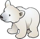 vektor för gullig illustr för björn polar vektor illustrationer