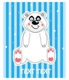 vektor för gullig illustratio för bakgrundsbjörn polar vektor illustrationer