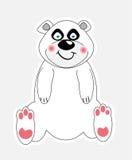vektor för gullig illustration för björn polar Arkivfoton