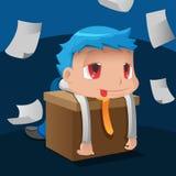 Vektor för hård arbetare för affärsman trött vektor illustrationer