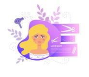 Vektor för hårsalong cartoon Isolerad konst på vit bakgrund vektor illustrationer
