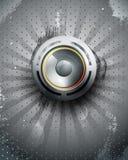 vektor för högtalare för mörk symbol för bakgrund musikalisk Arkivfoto