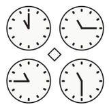 Vektor för halv symbol för quoter för timme elva för stämpelurrundaklocka enkel Arkivbilder