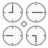 Vektor för halv symbol för quoter för timme nio för stämpelurrundaklocka enkel Royaltyfri Fotografi