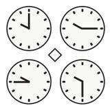 vektor för halv symbol för quoter för timme tio för stämpelurrundaklocka enkel Royaltyfri Foto