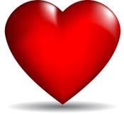 vektor för hjärta 3d Arkivfoton
