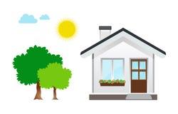 vektor för hussymbolsillustration Arkivbild