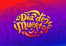Vektor för illustration för Dia de Muertos festival färgrik stock illustrationer