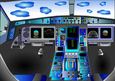 vektor för illustration för cockpitdäcksflyg Fotografering för Bildbyråer
