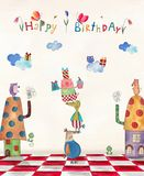 vektor för illustration för hälsning för födelsedagkort eps10 Royaltyfri Foto