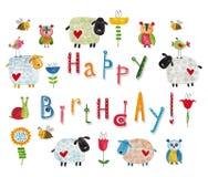 vektor för illustration för hälsning för födelsedagkort eps10 Fotografering för Bildbyråer