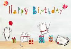 vektor för illustration för hälsning för födelsedagkort eps10 Royaltyfri Fotografi