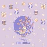 vektor för illustration för hälsning för födelsedagkort eps10 Royaltyfri Bild