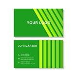 vektor för illustration för green för affärskort Royaltyfri Fotografi