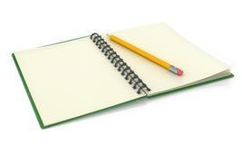 vektor för illustrationanteckningsbokblyertspenna Arkivbild