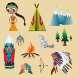 vektor för indiskt raster för illustration set stock illustrationer