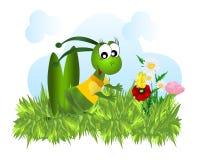 vektor för jakt för fjärilscdrgräshoppa stock illustrationer