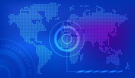 Vektor för jord för bakgrund för världskartapunktblått royaltyfri illustrationer