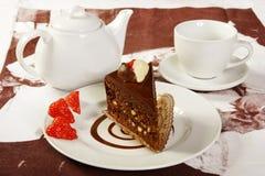 vektor för jordgubbe för cakechokladillustration Royaltyfri Foto