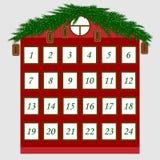 Vektor för juladventkalender Vektor Illustrationer