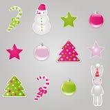 vektor för julelementsymboler Arkivfoto