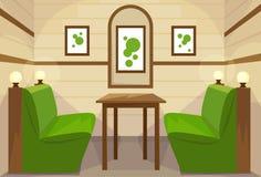 Vektor för kafé för rum för restaurangtabell inre royaltyfri illustrationer