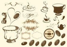 vektor för kaffeset Vektor Illustrationer