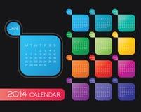 vektor för 2014 kalender stock illustrationer