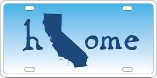 Vektor för Kalifornien statregistreringsskylt vektor illustrationer